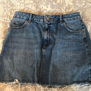 jean skirt from top shop